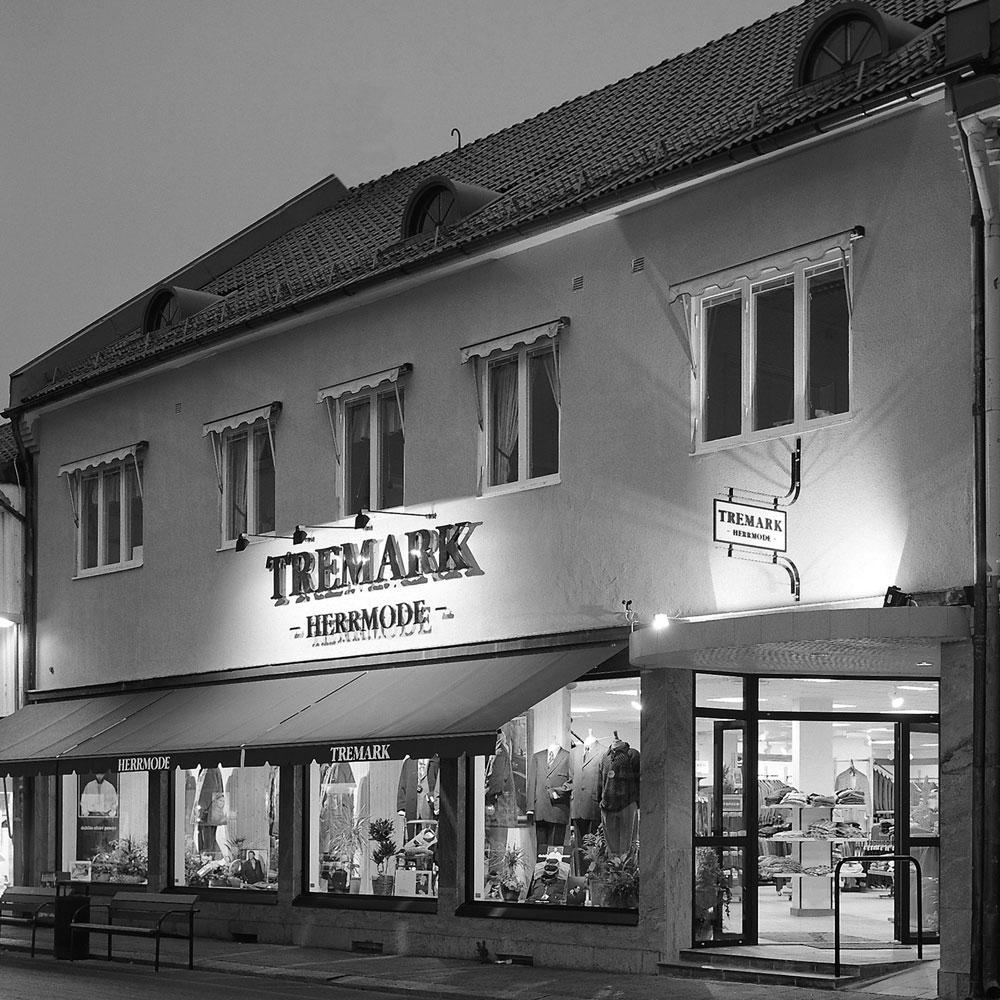 Bild som visar hur Tremark Herrmode ser ut grån gatan