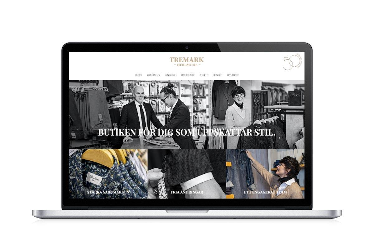 Tremark Herrmode nya hemsida